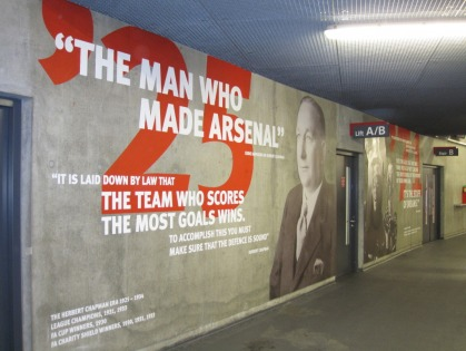 Herbert chapman inventor of modern football ste global for Arsenal mural emirates